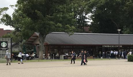 上野公園内のスタバ。.jpg
